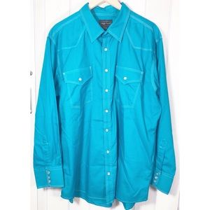 ! High Noon Western Button Down Pearl Snap XL